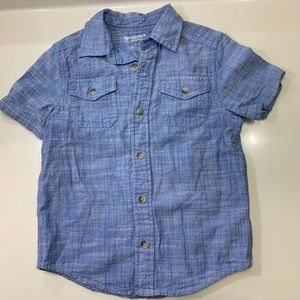 Little boys chambray polo button down Shirt Sz 6